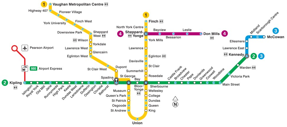 Subway Map Holiday.Toronto Subway Map 2019 Toronto Info